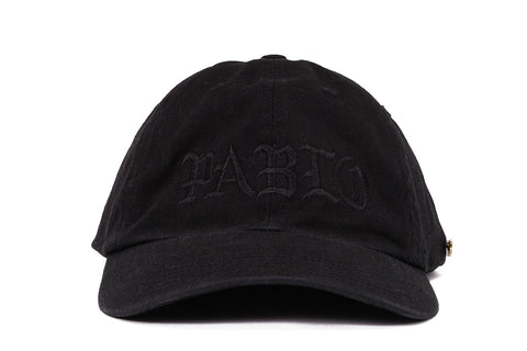 PABLO & FRIENDS DAD HAT W/ PIN - BLACK / BLACK