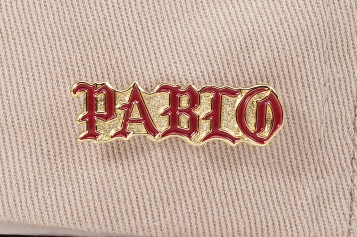 PABLO & FRIENDS DAD HAT W/ PIN - TAN / TAN