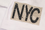 NEW YORK RHINESTONE TEE - WHITE
