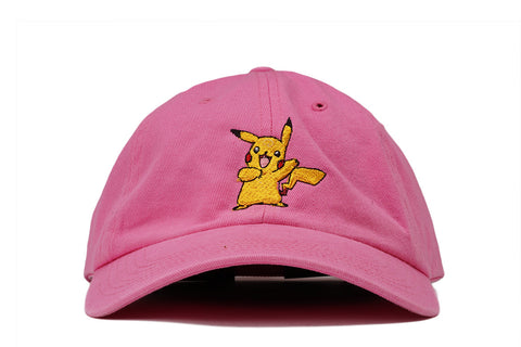 """PIKACHU"" DAD HAT - PINK"