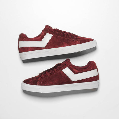 WMNS TOPSTAR  SUEDE LOW - BURGUNDY