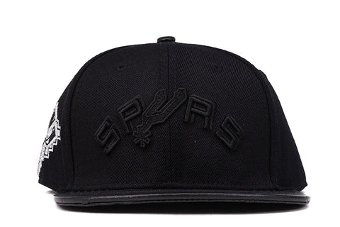 SPURS RETRO STRAPBACK - BLACK
