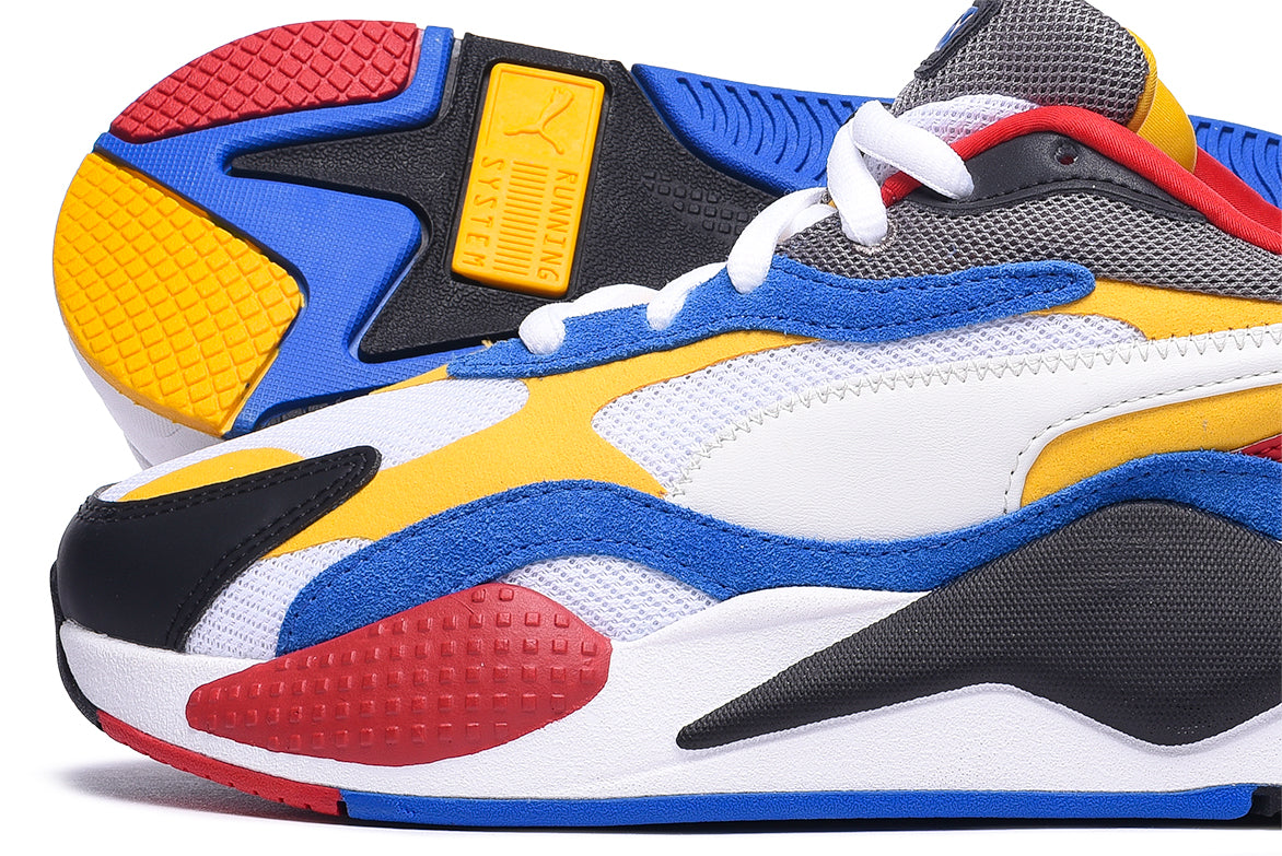 RS-X3 PUZZLE - WHITE / SPECTRA YELLOW / BLACK