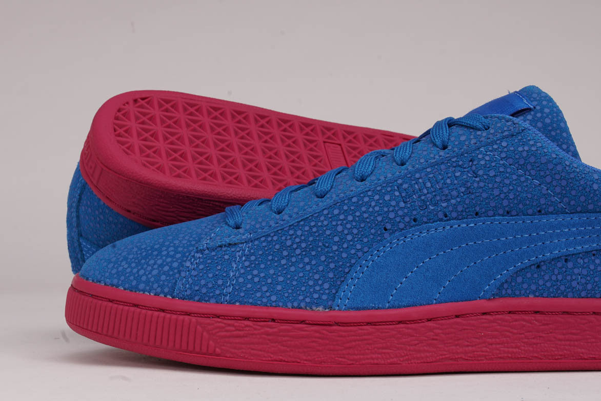 SUEDE CLASSIC CULTURE SURF - FRENCH BLUE / VIVACIOUS