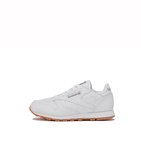 CLASSIC LEATHER (KIDS) - WHITE / GUM