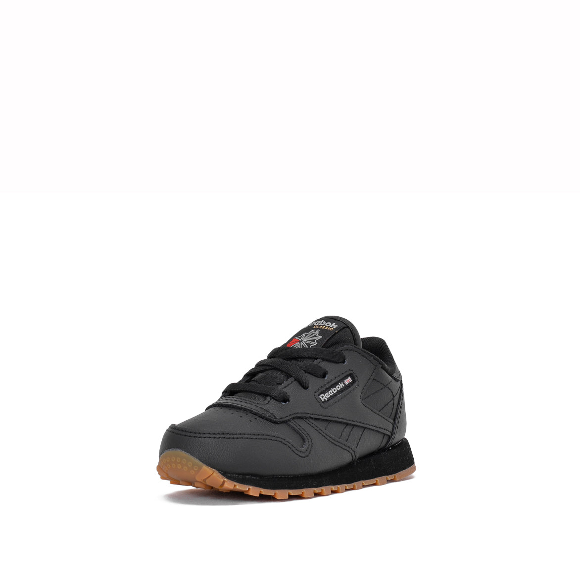 CLASSIC LEATHER (TODDLER) - BLACK / GUM