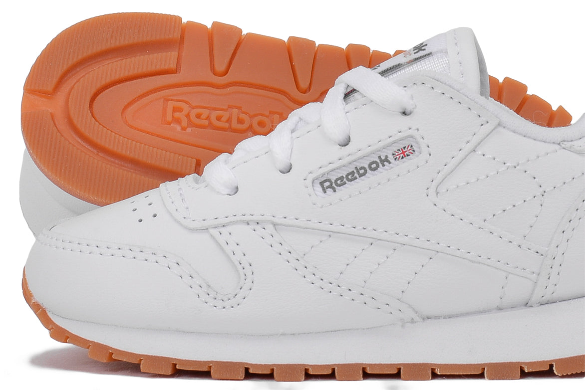 CLASSIC LEATHER (TODDLER) - WHITE / GUM