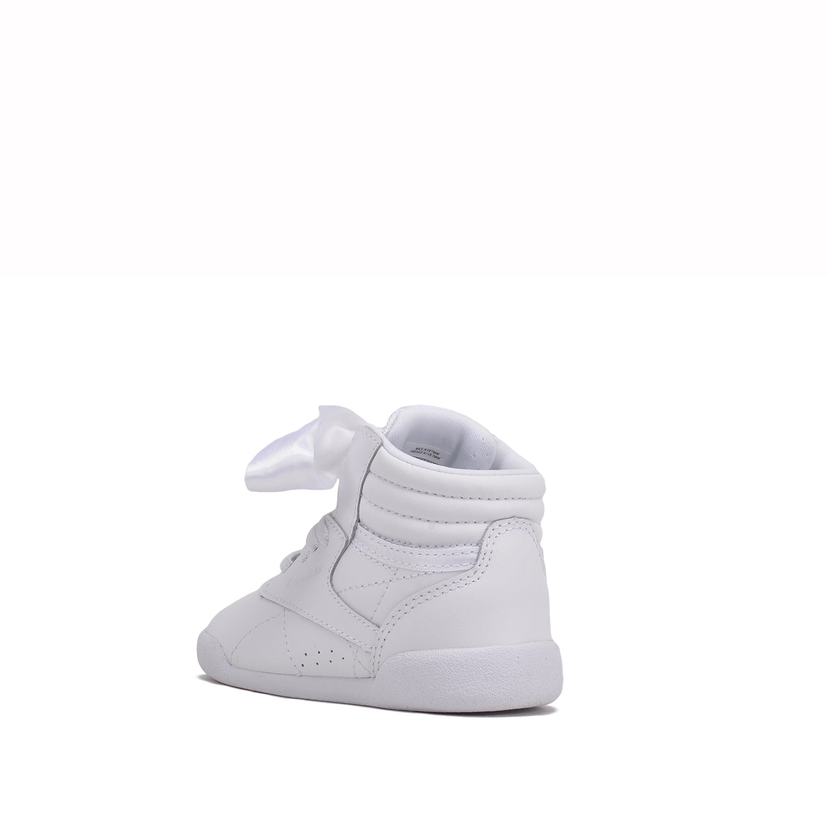 FREESTYLE HIGH SATIN BOW (TODDLER) - WHITE