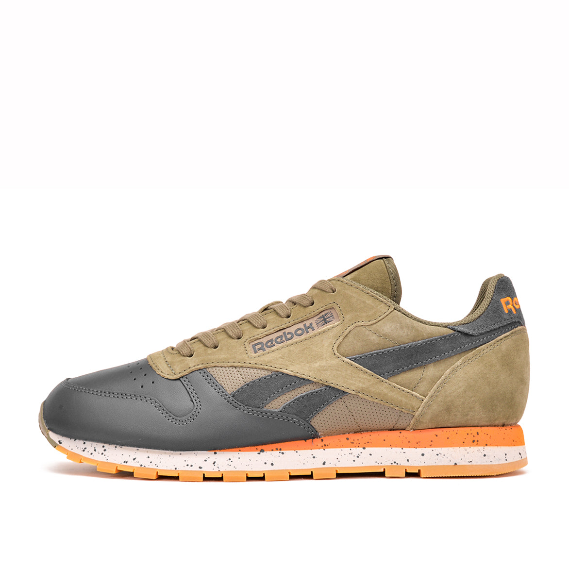 reebok classic leather speckled green