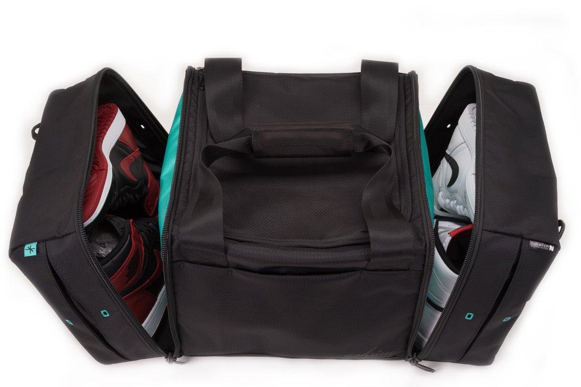 SNEAKER DUFFEL - DIAMOND PRESS BLACK / TEAL