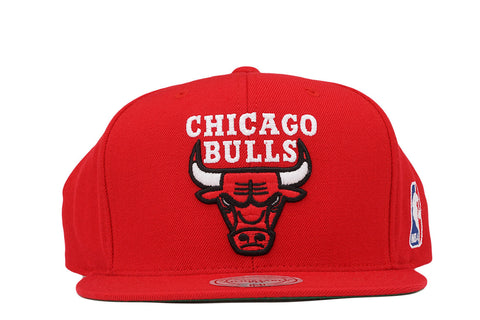 CHICAGO BULLS LOGO SNAPBACK - RED