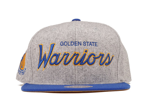 2-TONE TEAM SCRIPT SNAPBACK - HEATHERED GREY WARRIORS
