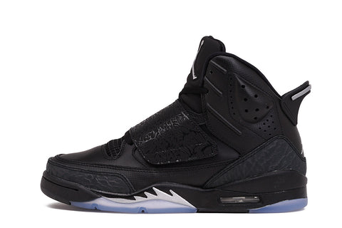 JORDAN SON OF MARS (GS) - BLACK / METALLIC SILVER