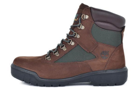 WATERPROOF 6 INCH FIELD BOOT - BROWN / GREEN