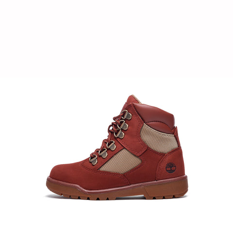 "WATERPROOF 6"" FIELD BOOT (YOUTH) - RUST NUBUCK"