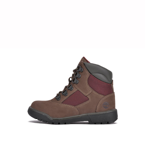"WATERPROOF 6"" FIELD BOOT (YOUTH) - DARK BROWN NUBUCK"