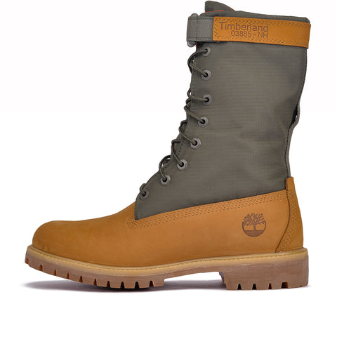"SPECIAL RELEASE 6"" MIXED MEDIA GAITER BOOT - WHEAT / GREEN"