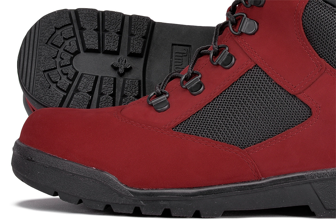 "WATERPROOF 6"" FIELD BOOT (JUNIOR) - RED / DARK GREY"
