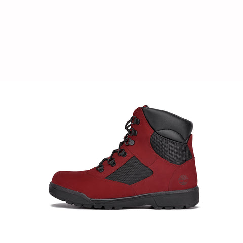 "WATERPROOF 6"" FIELD BOOT (YOUTH) - RED / DARK GREY"