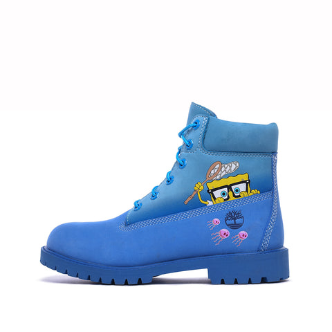 "SPONGEBOB X TIMBERLAND 6"" PRM BOOT (GS) - BRIGHT BLUE"