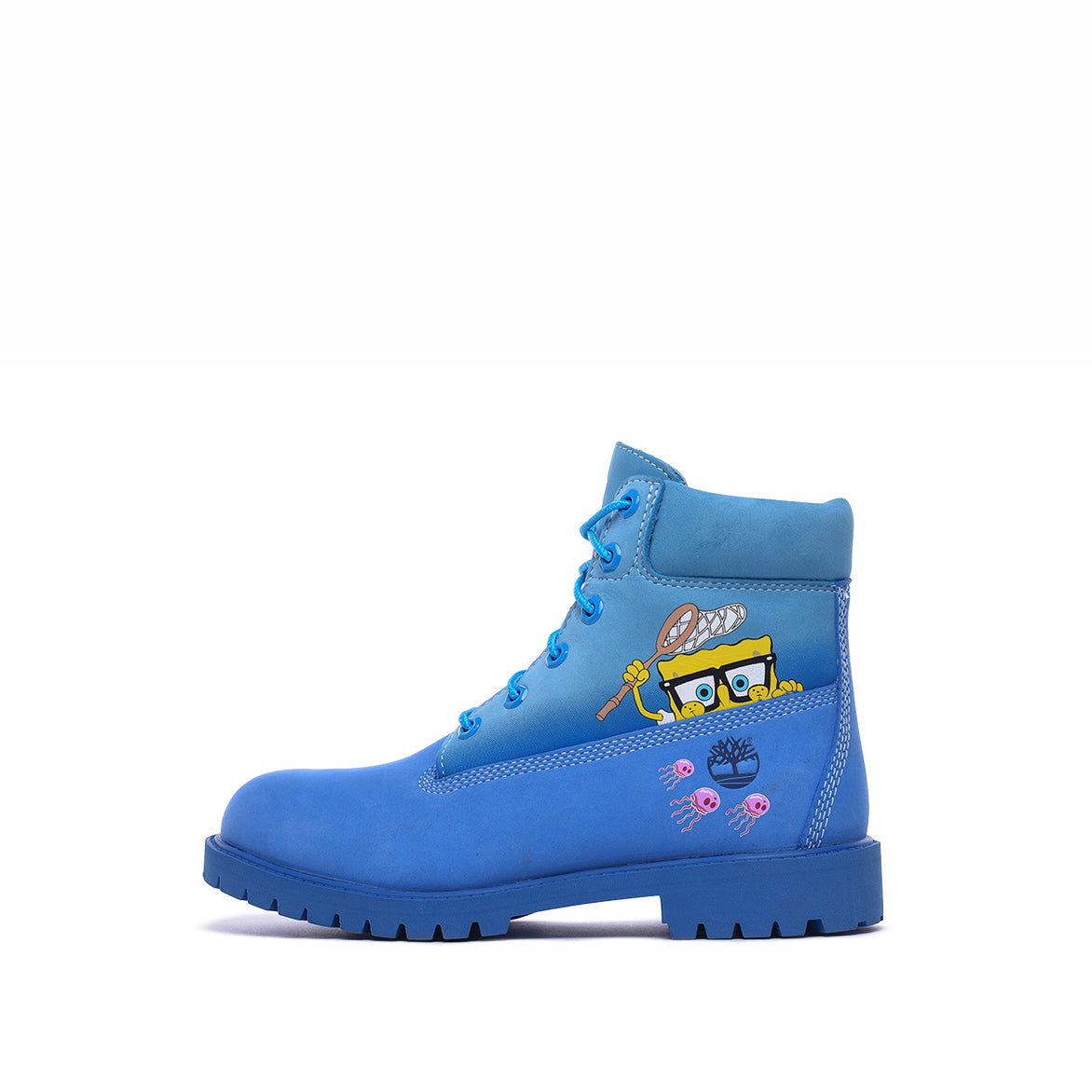 "SPONGEBOB X TIMBERLAND 6"" PRM BOOT (PS) - BRIGHT BLUE"