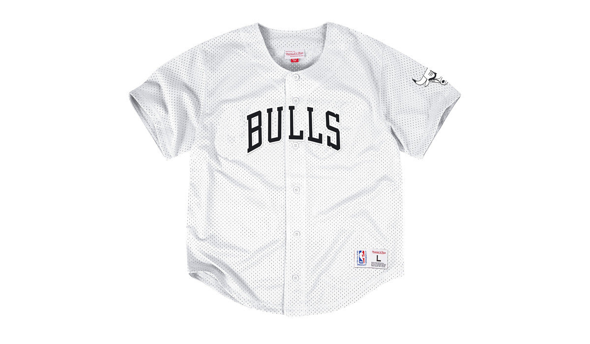 NBA MESH BUTTON FRONT JERSEY - BULLS