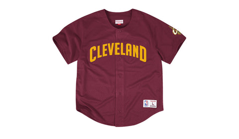 NBA MESH BUTTON FRONT JERSEY - CAVALIERS