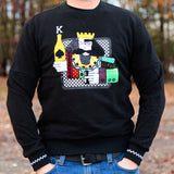 ACE OF KINGS CREW NECK - BLACK