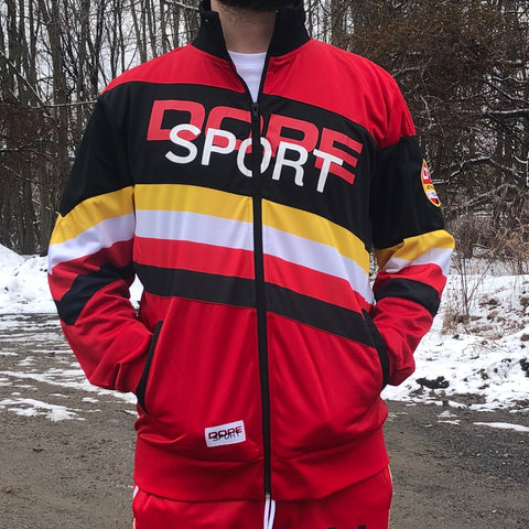 RETRO SPORT TRACK JACKET - RED