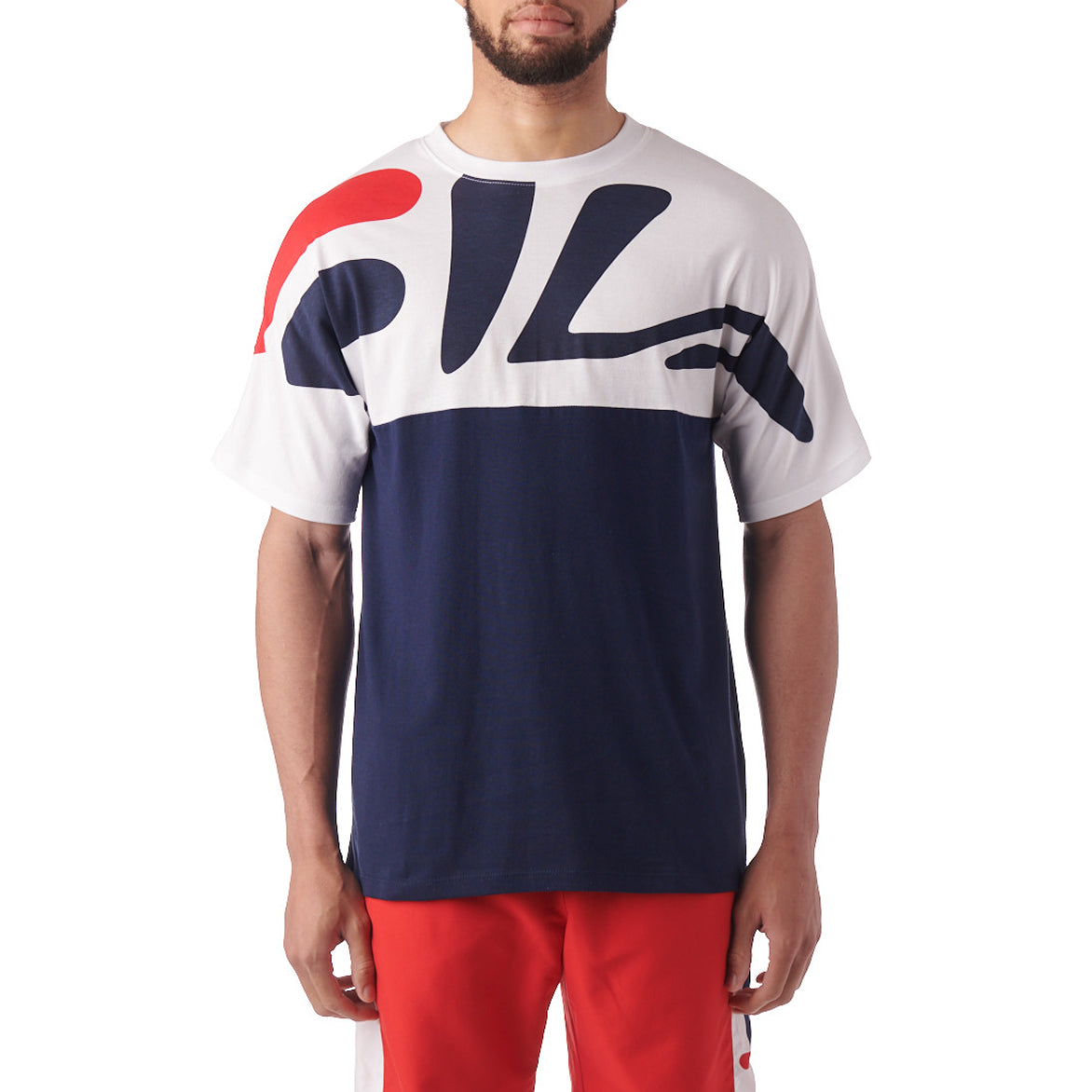 LEE CNS COLORBLOCK TEE - NAVY/ WHITE