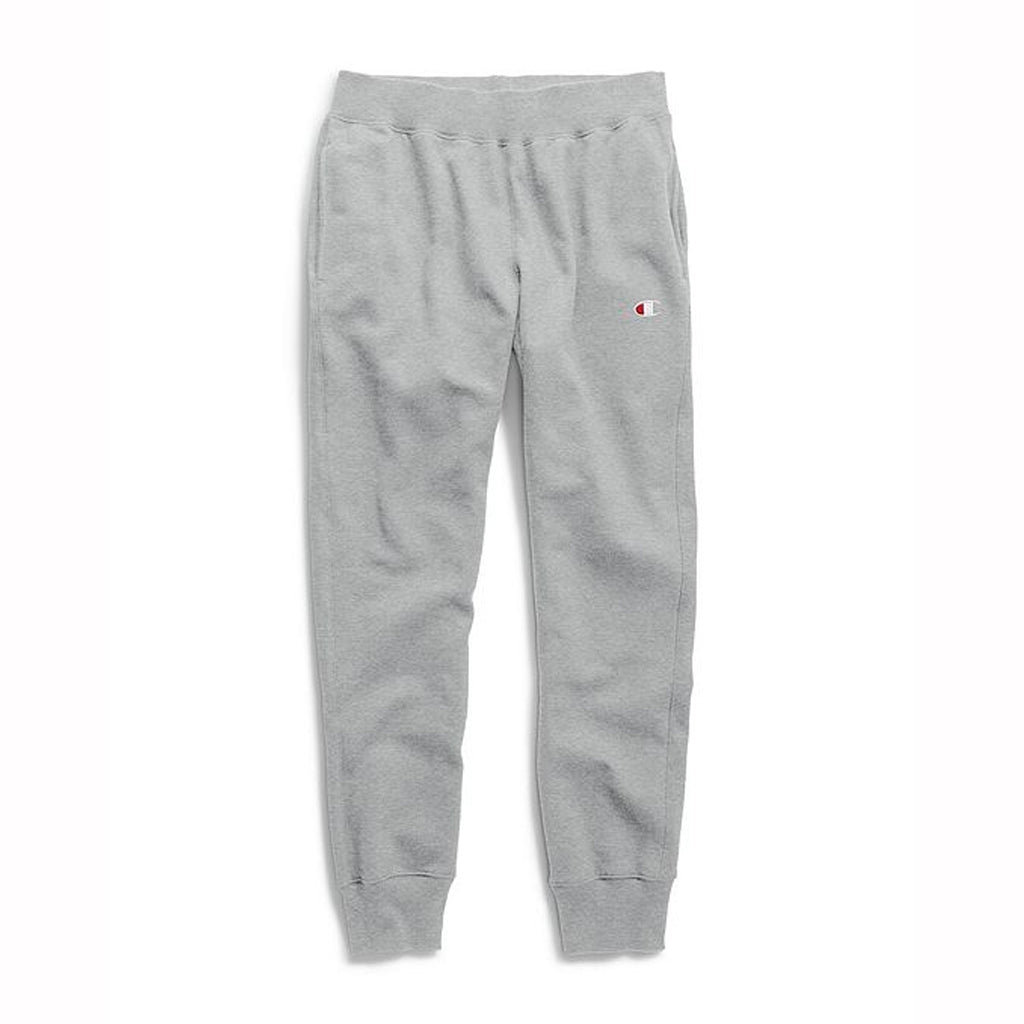 REVERSE WEAVE TRIM JOGGER PANTS - OXFORD GREY