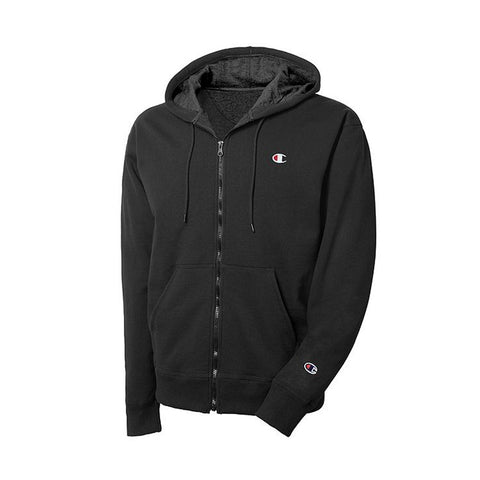 REVERSE WEAVE FULL ZIP JACKET - BLACK
