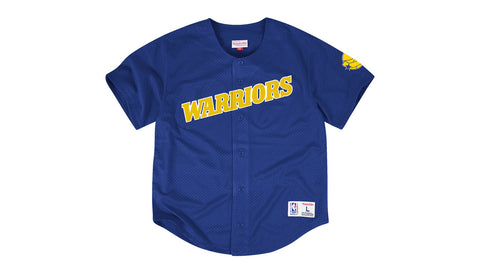 NBA MESH BUTTON FRONT JERSEY - WARRIORS