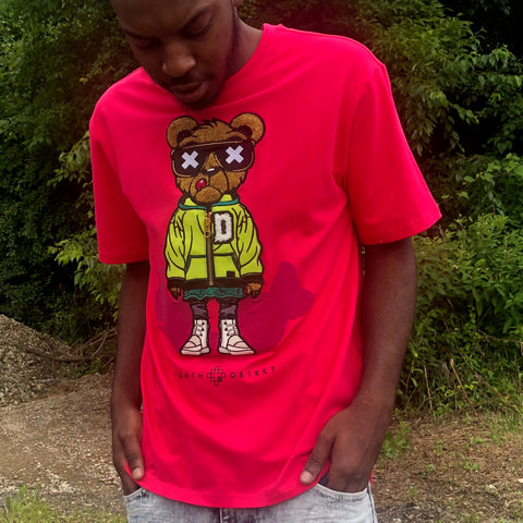 D BEAR TEE - FUSCHIA