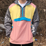 COLORBLOCK WINDBREAKER - PASTEL PINK