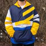 COLORBLOCK WINDBREAKER - NAVY