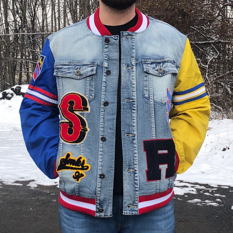 MEN JEANS JACKET W/PATCH