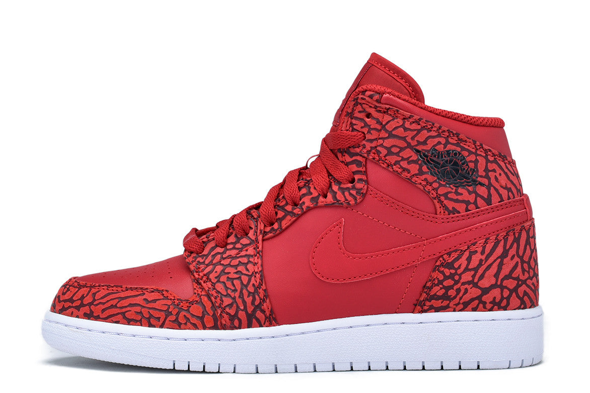 "AIR JORDAN 1 RETRO HI PREMIUM BG ""UNSUPREME"" - GYM RED"