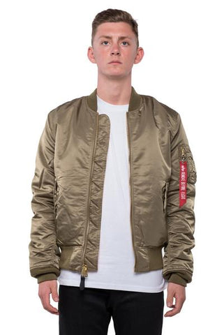 MA-1 SLIM FIT FLIGHT JACKET - OLIVE