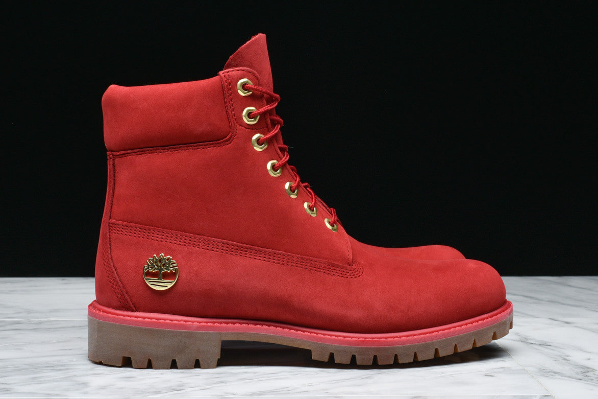 "LIMITED RELEASE 6"" PREMIUM WATERPROOF BOOT - FIRE RED"