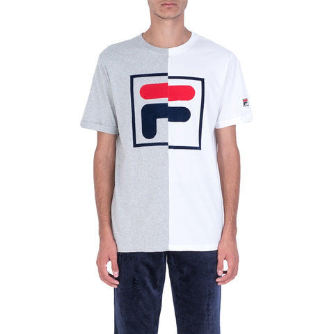 HUNTER F BOX TEE - WHITE / GREY