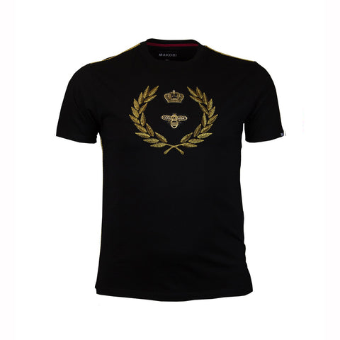 CROWN CREST TEE - BLACK