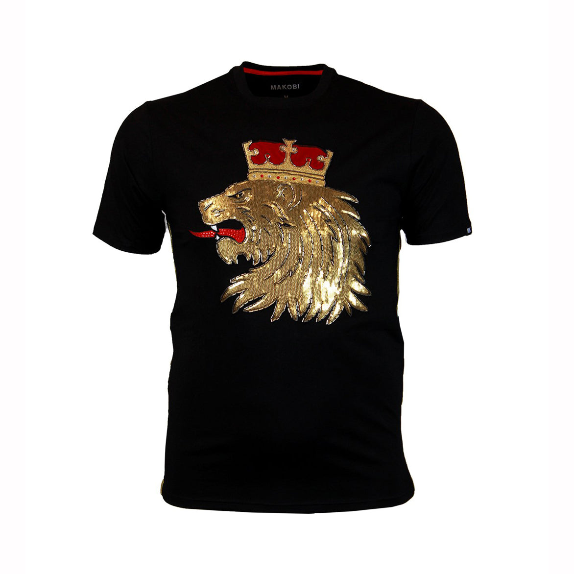 LION CROWN TEE - BLACK