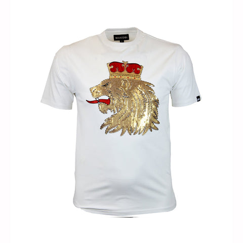 LION CROWN TEE - WHITE
