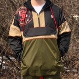 STREET CHAMPS PULLOVER NYLON JACKET - OLIVE