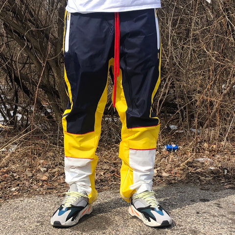 NYLON TRACK PANTS - NAVY