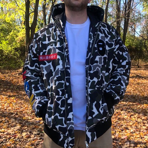 APE HEAD JACKET APE PRINT CAMO