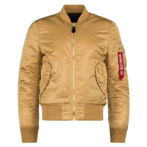 MA-1 SLIM FIT FLIGHT JACKET - CAMEL