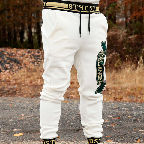 ROYAL ANGEL VELOUR JOGGER - OFF WHITE