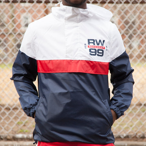 ROC HALF ZIP WINDBREAKER - NAVY/WHITE